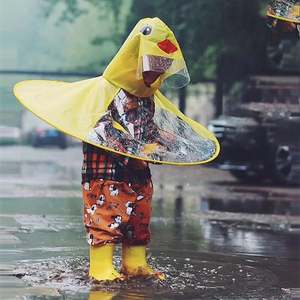 Toys Children Cute Poncho Rain-Cover Funny Transparent