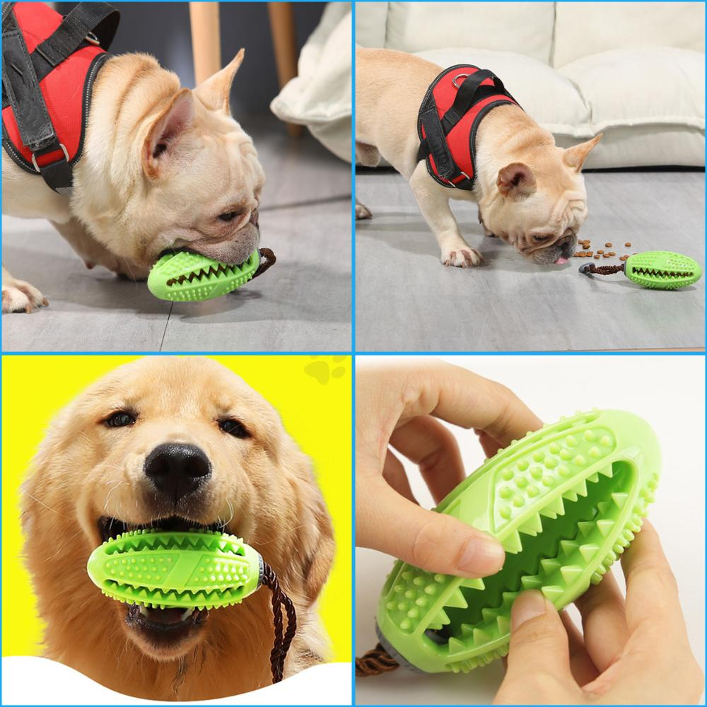 Interactive Dog Toy Food Dispenser Ball Dog Chew Toys Dog Toothbrush Pet Molar Tooth Cleaning Supplies Doggy Puppy Dental Care
