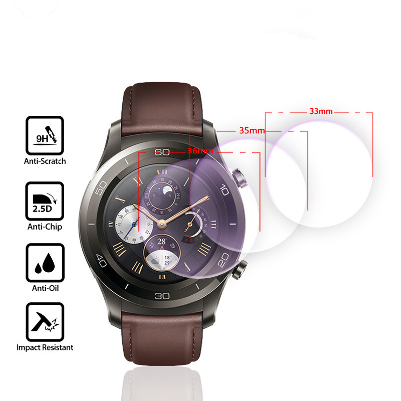 For Diameter 30mm-41mm Smart Watch Tempered Glass 9H 2.5D Premium Screen Protector Film 30 31 32 33 34 35 36 37 38 39 40 41 Mm