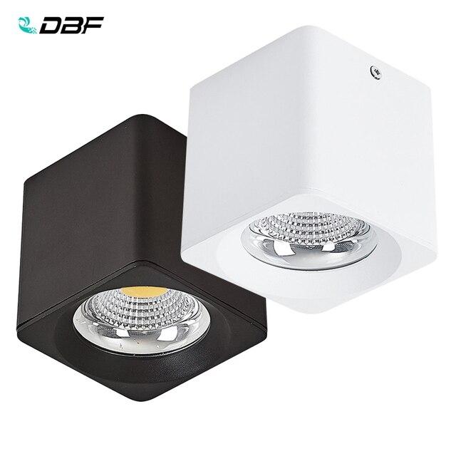 [Dbf] 角白/黒無カット表面実装ダウンライトハイパワー10ワット20ワット30 3w天井のスポットライト3000k/4000k/6000 18k AC110V 220v