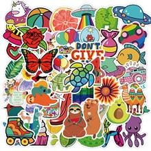 10/50 pçs colorido dos desenhos animados meninas adesivo simples para bagagem portátil skate pegatinas brinquedo decalques adesivos