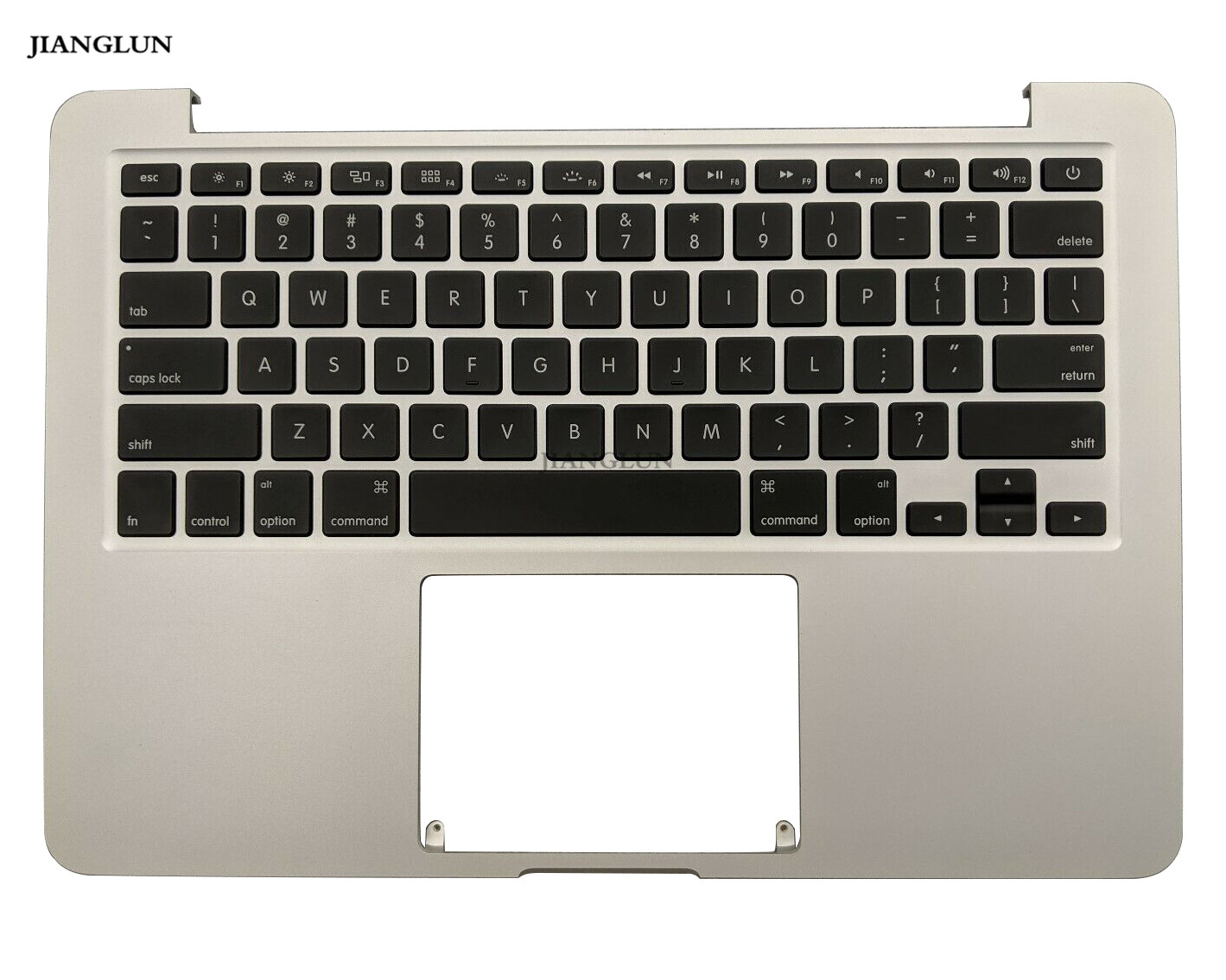 JIANGLUN Laptop Palmrest Top Case with Keyboard For MacBook Pro A1502 13.3 2015 Silver image