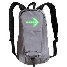 Nowa bezprzewodowa kamizelka kolarska LED MTB torba na rower bezpieczeństwo światło kierunkowskazu LED kamizelka rowerowa odblaskowe kamizelki ostrzegawcze z plecakiem Remo