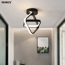 Ceiling-Lights Plafonnier Hall-Entrance Square-Shape Round Modern Led Triangle Iron