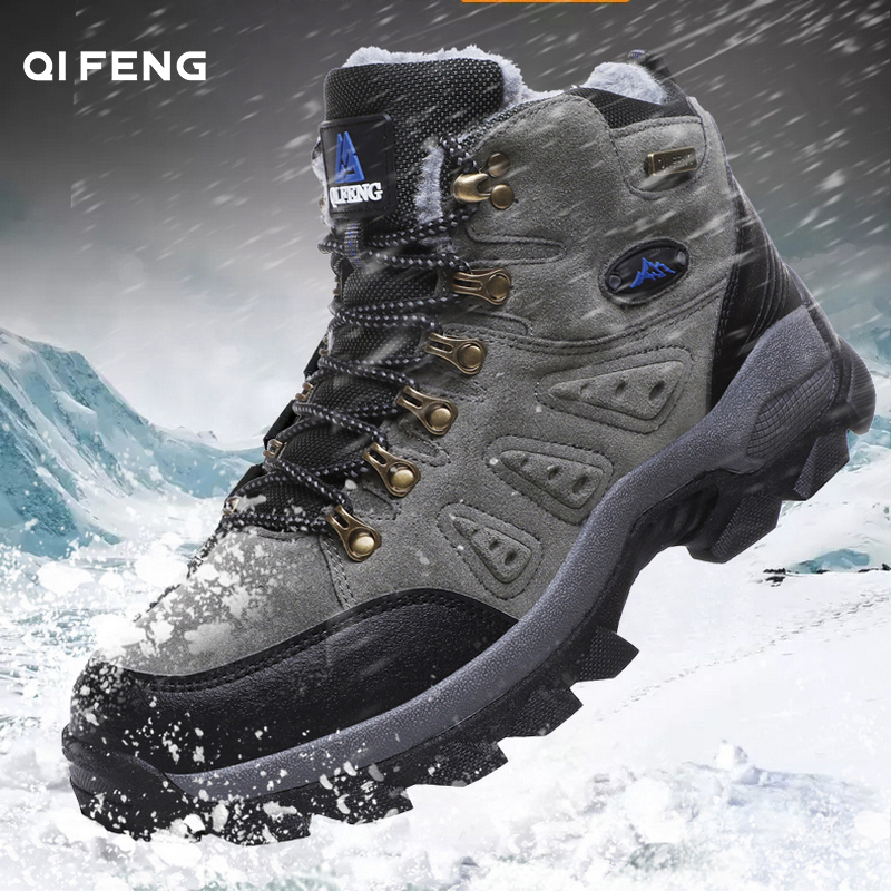 New Arrival Winter Pro-Mountain Outdoor Hiking Shoes For Men Women Add Fur Hiking Boots Walking Warm Training Trekking Footwear