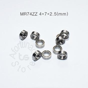 MR74ZZ 4*7*2.5(mm) 10pieces free shipping bearing Metal Sealed Miniature Mini Bearing Fishrod shaker chrome steel bearing r3zz bearing 4 763 12 7 4 98 mm abec 5 bearings metal sealed miniature bearing 3 16 x 1 2 x 0 196 inch r3 r3z r3zz