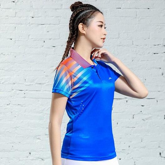 V-образная горловина, короткий рукав, форма для настольного тенниса, один топ для мужчин и женщин, летняя одежда для учеников средней школы, студентов средней школы - Цвет: B2622female2