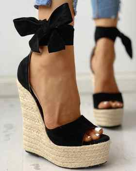 35 42 42 mulheres sandálias de cunha plataforma feminina boemia sandálias de salto alto moda tornozelo cinta aberto do dedo do pé das senhoras sapatos zapatos de mujer