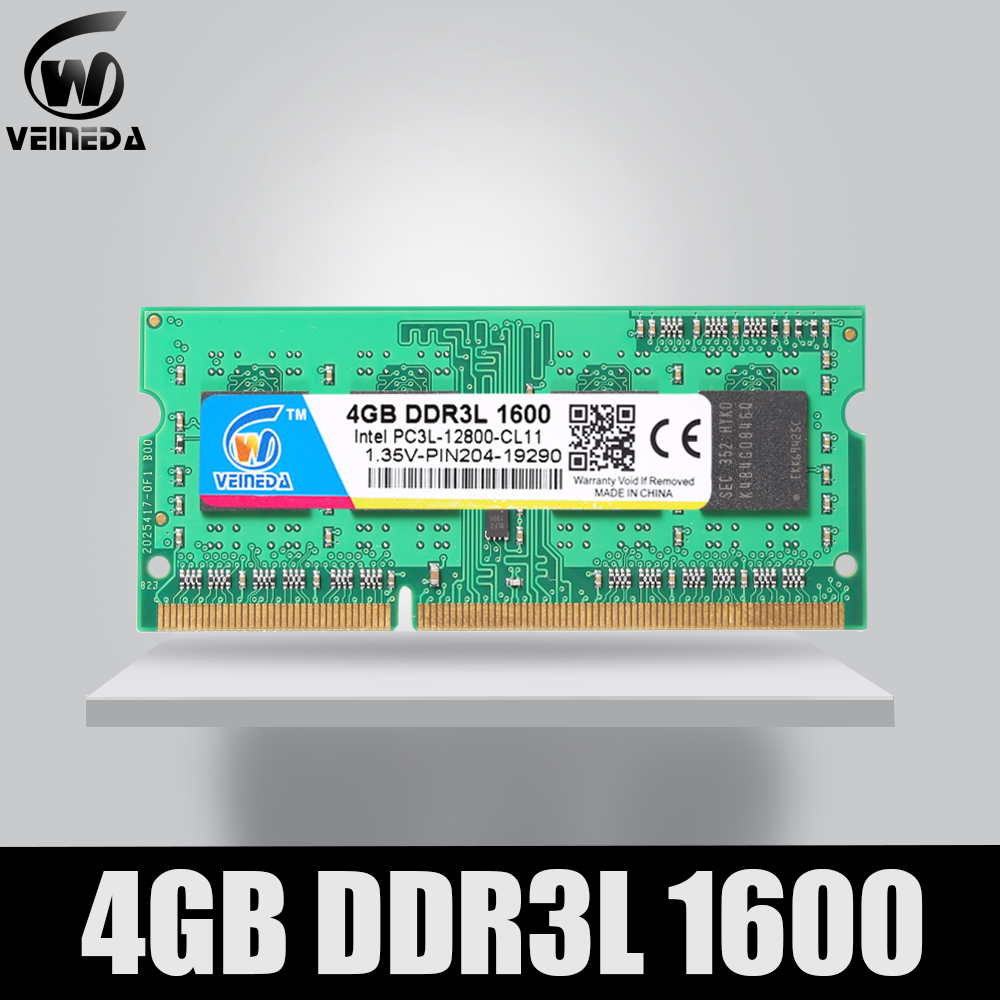 VEINEDA DDR3L <font><b>4GB</b></font> 8GB 1333MHz <font><b>Sodimm</b></font> Ram DDR 3L <font><b>1600</b></font> PC3-12800 204PIN Ram Compatible For All Intel AMD <font><b>ddr3</b></font> Motherboard image