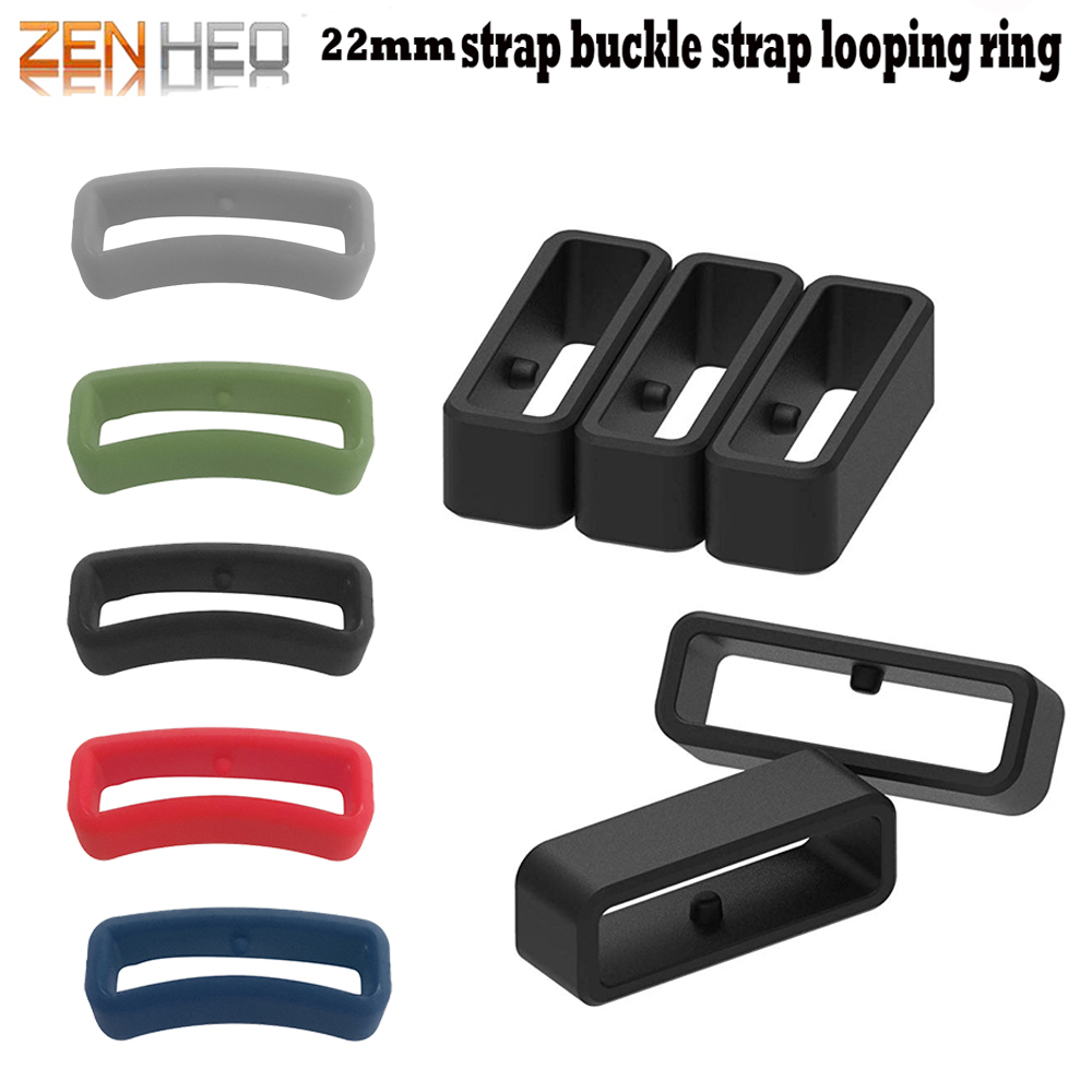 22MM Rubber Fastener Rings Security Loop Replacement For Garmin Fenix5/Fenix5 Plus/Forerunner 235/Forerunner 630/Forerunner 735