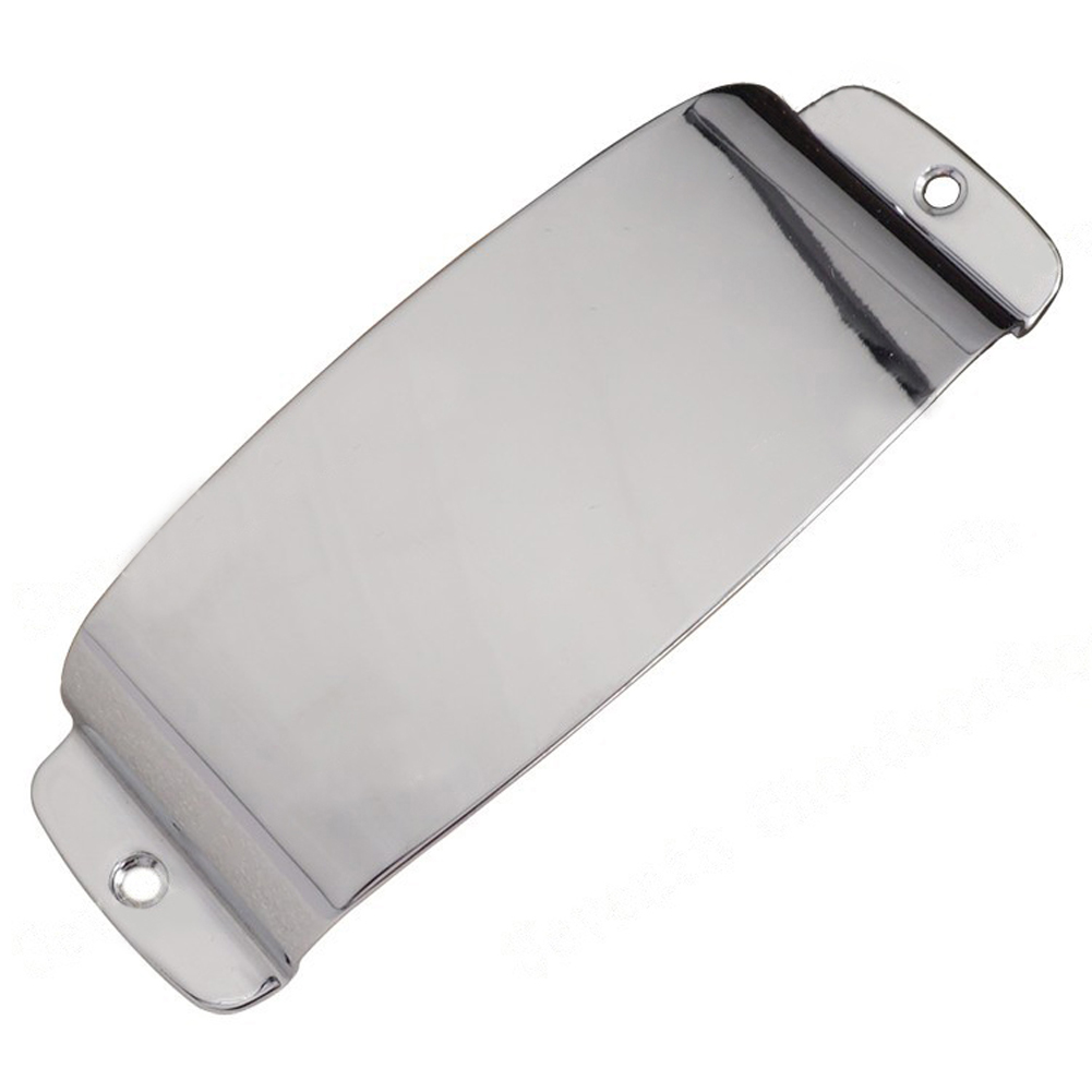 1 Pcs Chrome Plated Steel Pickup Cover Protector For Guitar Jazz Bass Guitar Part Replacement High Quality Accessories
