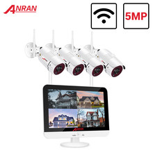 Anran 5MP H.265 + Ultra Hd Video Security System 2/4CH Waterdichte Outdoor Draadloze Ip Camera Plug & Play nvr Kit Nachtzicht
