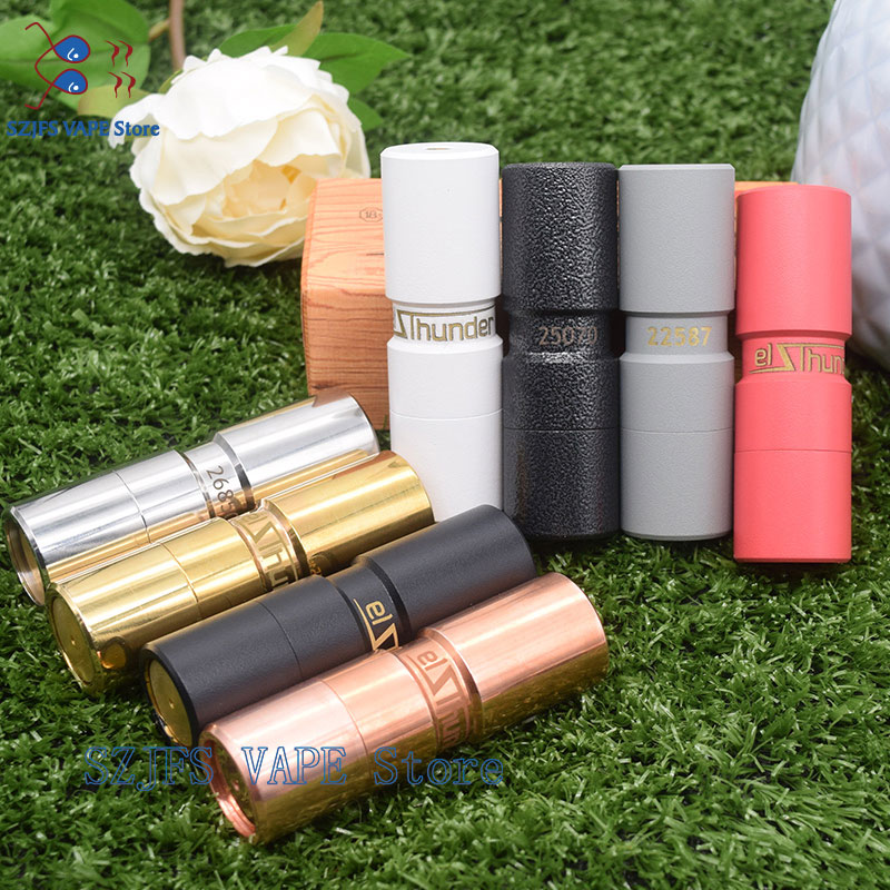 AV Mech Mod Elthunder E Cigarette Top Refill VAPE RDA RDTA Fit With 510 Thread 18650 Battery High Quality Mechanical Mech Mod