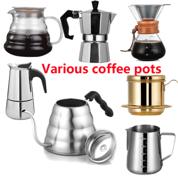 1.2/1L Stainless Steel Coffee Pot Long Spout Kettle Gooseneck Drip Coffee Kettle Thermo Maker Thermometer Pour Over Teapot#6
