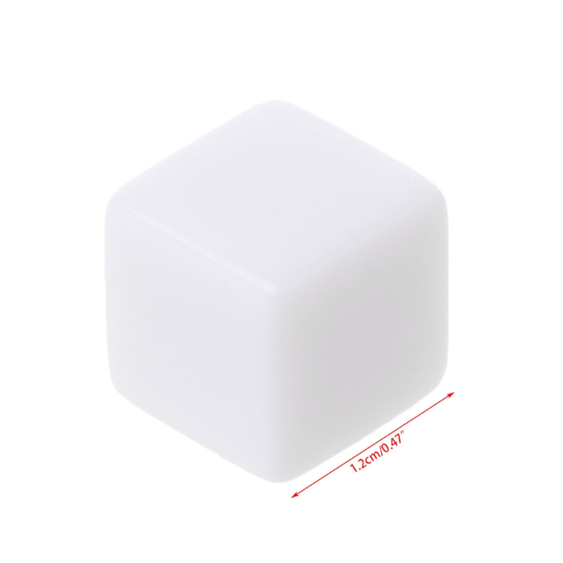 10Pcs <font><b>D6</b></font> <font><b>Dice</b></font> <font><b>12mm</b></font> <font><b>Die</b></font> Six Sided Table Gaming <font><b>Dice</b></font> Blank For Role Playing Toys N0HA image