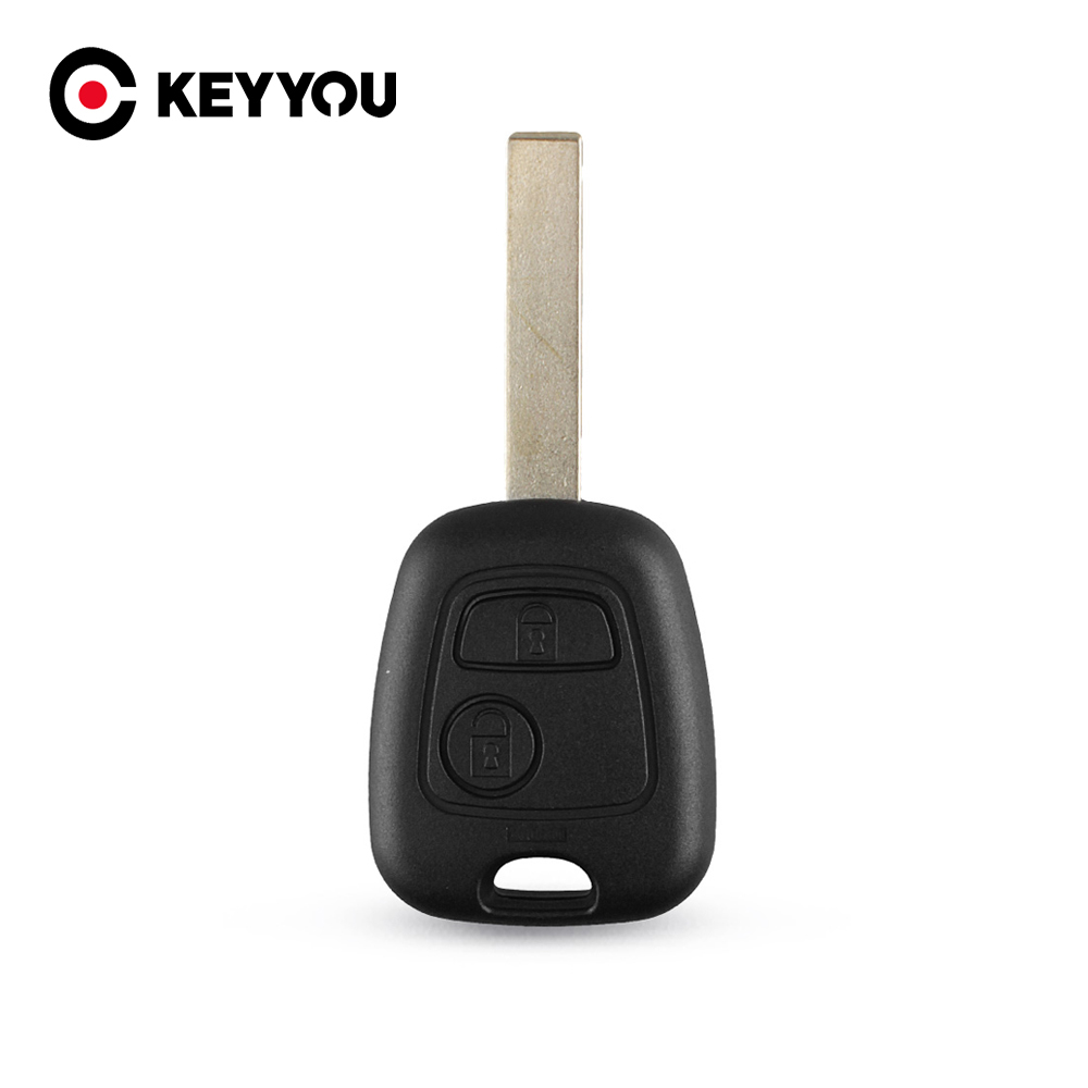 KEYYOU Cut Blade Car Key Shell For Peugeot 107 207 307 Partner Expert Boxer SX Fob 2 Button Remote Key Shell Case Cover image