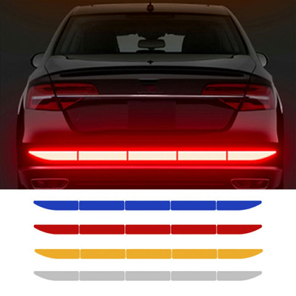 Reflector Sticker Car Exterior Accessories Adhesive Reflective Tape Reflex Exterior Warning Strip Protect Car Body