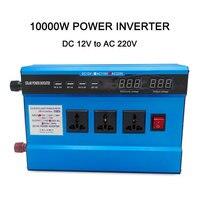 Dual screen 10000Watt DC 12V/24V To AC 220V 240V Solar Power Inverter Charger Voltage Converter Transformer 4USB