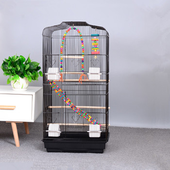 Parrot bird cage extra large luxury large peony gray parrot cage metal breeding gray parrot bird cage