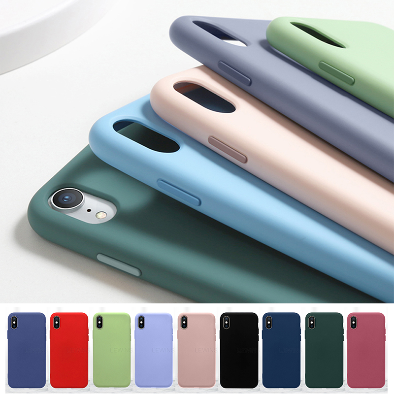 <font><b>Luxury</b></font> Original Liquid silicone <font><b>Case</b></font> For <font><b>iPhone</b></font> 7 8 6 6s Plus Full Protection Cover For <font><b>iPhone</b></font> 11 Pro XS MAX X XR TPU Phone <font><b>Case</b></font> image