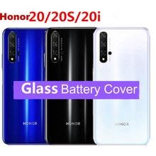 ต้นฉบับสำหรับ Huawei Honor 20 ปกหลังฝาครอบสำหรับ Huawei Honor 20 Pro ด้านหลังเปลี่ยนกระจกกรณีซ่อมอะไหล่