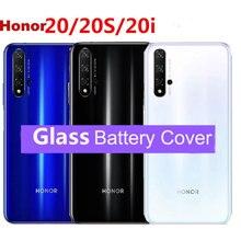 Huawei honor 20을위한 오리지널 배터리 커버 하우징 huawei honor 20 pro back 후면 유리 교체 케이스 수리 부품
