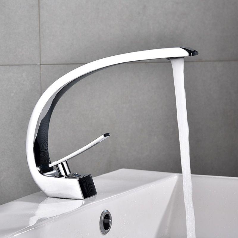 Nouveau robinet de bassin de bain en laiton Chrome robinet brosse Nickel évier mélangeur robinet vanité eau chaude froide salle de bain robinets