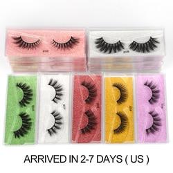 Mink Eye Lashes Wholesale 10/30/100/200Pcs 3D Mink Eyelashes Set Natural False Eyelashes Wispy Makeup Fluffy Fake Lash In Bulk