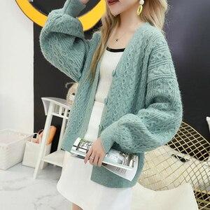 Image 3 - Surmiitro Long Sleeve Cardigan Women 2019 Casual Korean Ladies Knitted Winter Sweater Tricot Coat Jacket Female