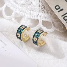 Shangzhihua маленькие серьги гвоздики корейская мода ромашки