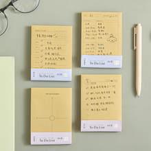 80 arkuszy/pad Do zrobienia List notatnik tygodniowy codzienny terminarz biurkowy Cartoon kartki samoprzylepne naklejki papier pakowy materiały biurowe