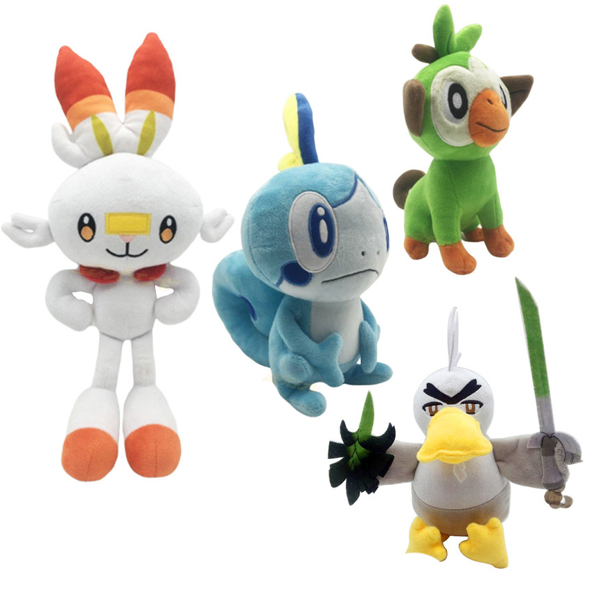new-sobble-scorbunny-grookey-sirfetch'd-plush-dolls-toy-font-b-pokemones-b-font-sword-shield-stuffed-plush-toys-christmas-gift-for-kids-friend