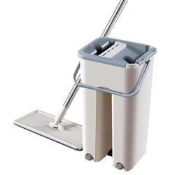 Płaski automatyczny mop bezpłatny ręczny drążek teleskopowy mop z mikrofibry zestaw 360 stopni obraca magiczne czyszczenie mopy domowe urządzenie do mycia podłogi w Mopy od Dom i ogród na
