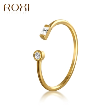 ROXI Simple 925 Sterling Silver Rings for Women Gift AAA Cubic Zirconia Rings Crystal Jewelry Adjustable CZ Open Midi Toe Rings 1