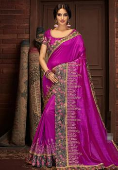 17 Colors Gorgeous Traditional India Sarees for Woman Beautiful Embroideried Ethnic Saree Fabric 1