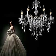 Yonntech Classico 6 Luci Nappe Lampadario In Vetro di Luce di Soffitto di Cristallo di Illuminazione Della Lampada