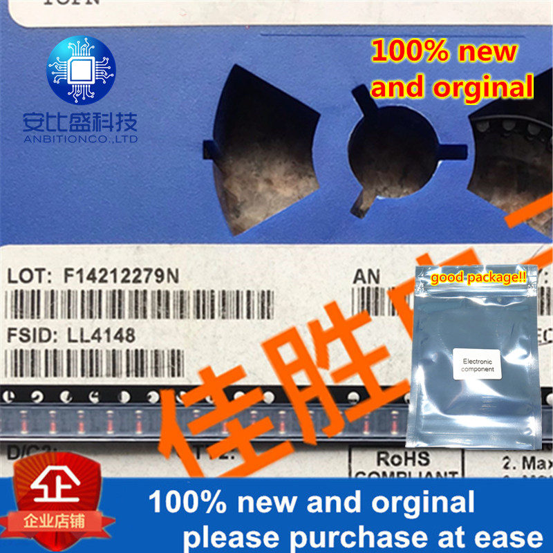 30pcs 100% New And Orginal  LL4148  Ultrafast Recovery Switch Diode LL34 Silk Screen Single Black Ring In Stock