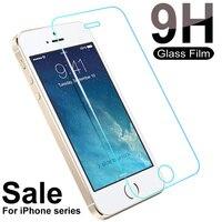 Protector de pantalla de vidrio templado 9H para iPhone 5, 5S, 5C, SE, 4S, 6, 6S, 7, 8 Plus, XS, 11 Pro, Max, X, XR