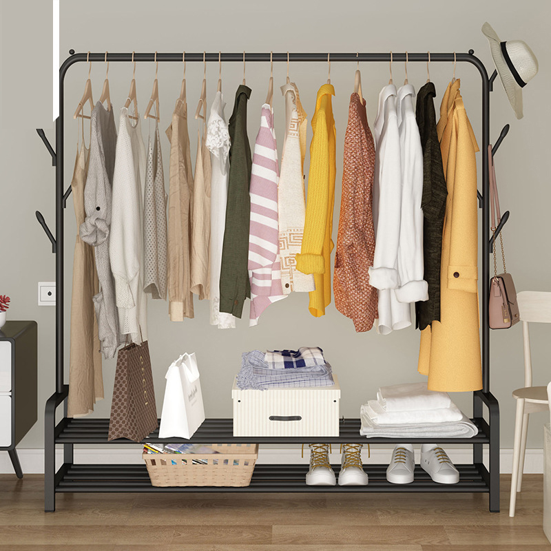 Folding Floor Clothes-horse Clothes Hanger Coat Rack Floor Hanger Storage Wardrobe Clothing Drying Racks