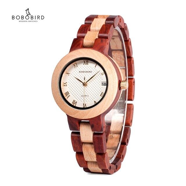 Reloj mujer BOBO ptak kobiet zegarki japonia ruch zegarki drewniane Band kwarcowy drewna zegarek dla kobiet C M19