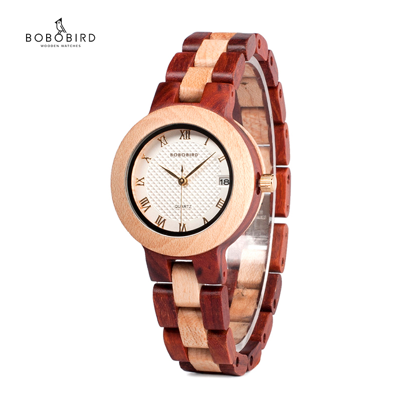 Reloj Mujer BOBO BIRD Women Watches Japan Movement Timepieces Wooden Band Quartz Wood Watch For Women  C-M19