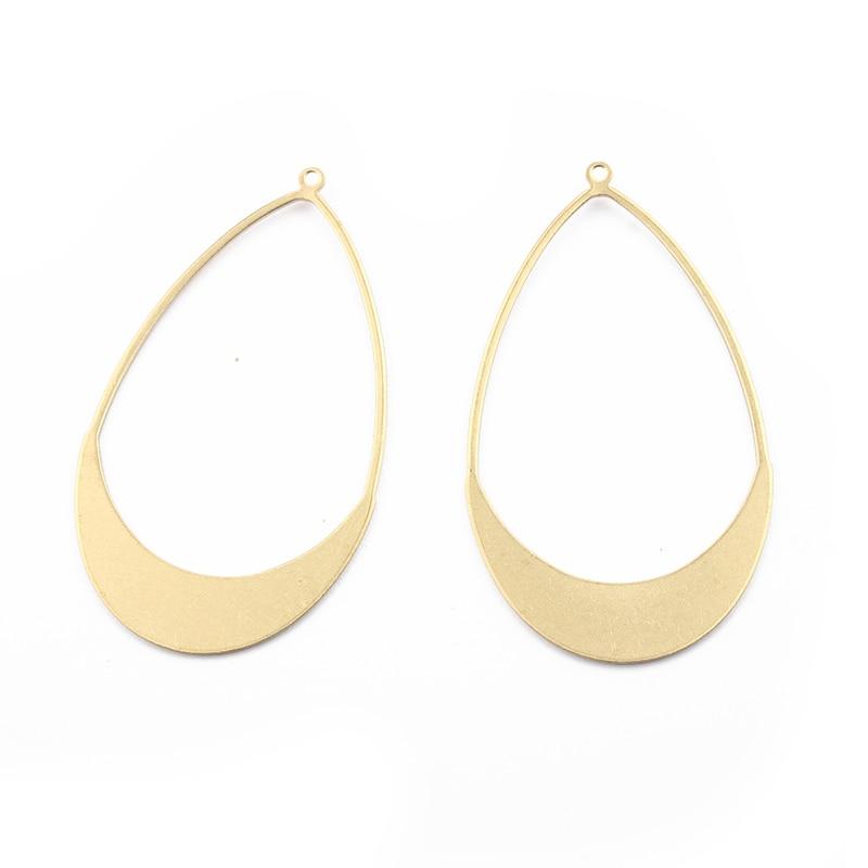 20Pcs Raw Brass Half Round Fan Shaped Charms Pendants DIY Jewelry Craft Findings