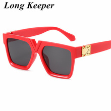 Luxury Fashion Vintage Brand Designer Lady Big Square Sunglasses