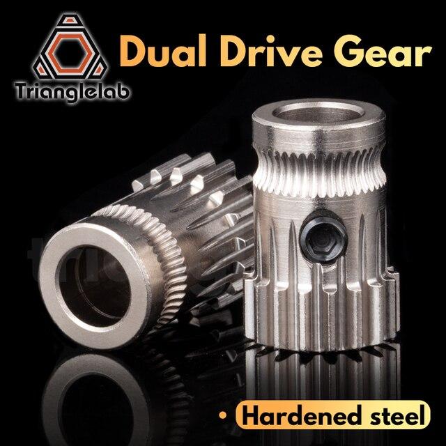 trianglelab Drivegear kit dual drive gear extruder kit Mini Bowden Extruder Cloned Btech upgrade for Prusa i3 3d printer gear