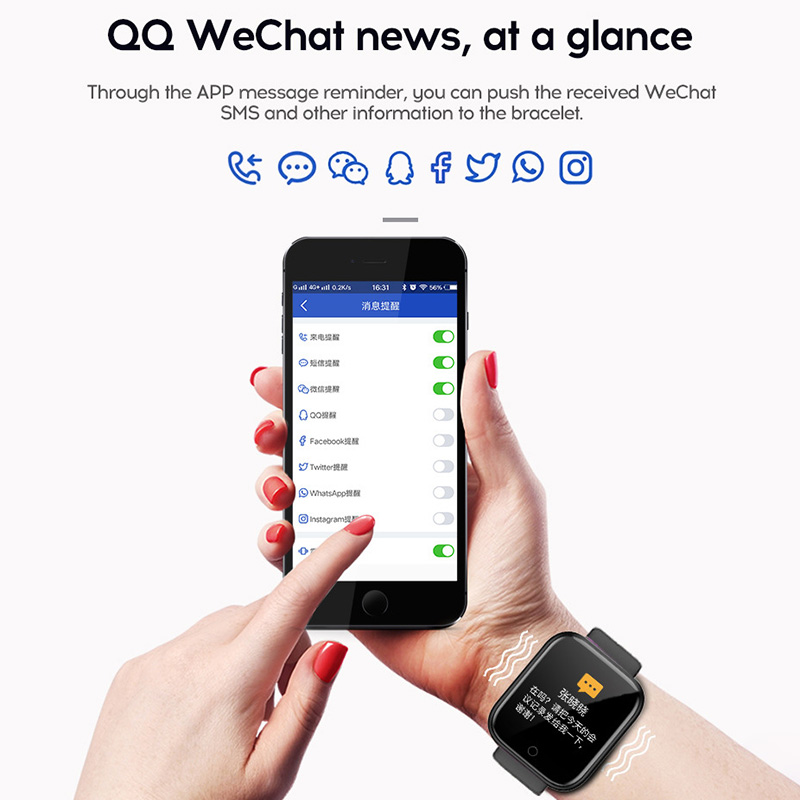 Y68 D20 Smart Watch Waterproof Bluetooth Blood Pressure Fitness Tracker Heart Rate Monitor Smartwatch For Apple IOS Android 3