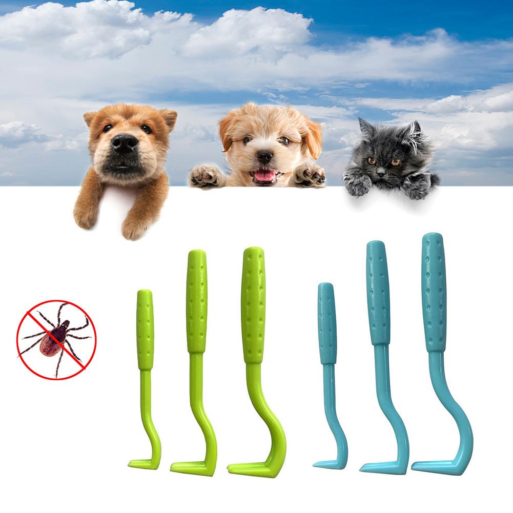 3PCS Pet Flea Remover Tool Scratching Hook Remover Pet Cat Dog Grooming Supplies Tick Picker Flea Removal Tools Pets Dogs Comb