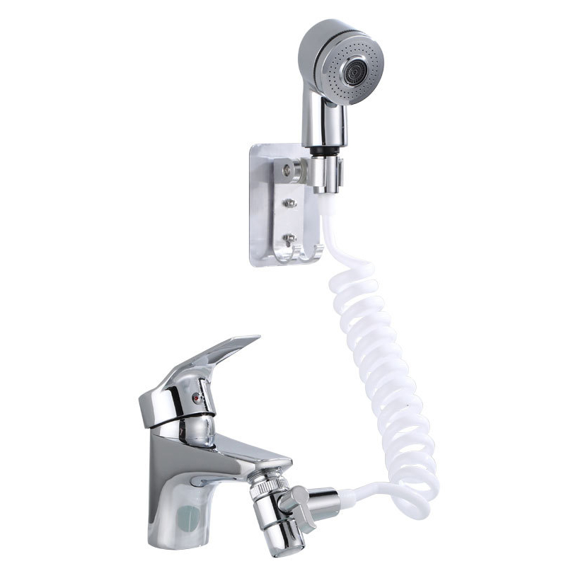 Multifunction Faucet Shower Head Spray Set Washing Hair Sink Connector Handheld Shower With Hose For Pet Bathroom Kitchen