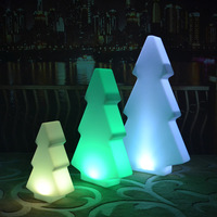 Christmas Tree Outdoor or Indoor LED Night Lights lamps Rechargeable Battery Operated for Xmas Decor free shipping 2pcs/lot