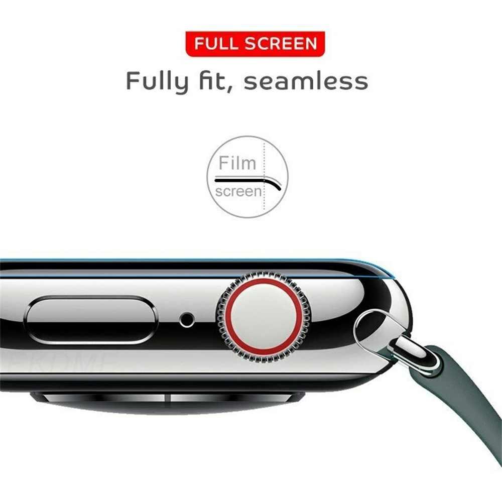 Nueva película protectora de hidrogel 3D TPU protectores de pantalla de cubierta completa para i-watch Apple Watch Series 4 3 2 1 suave duradero