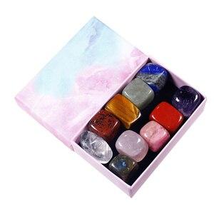 1 коробка Натуральный камень с украшением в виде кристаллов драгоценных камней минеральные украшения дома подарки коробка